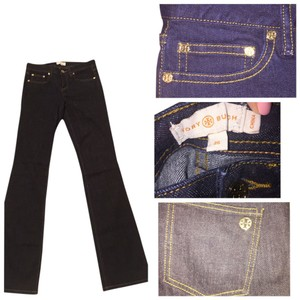 Tory Burch Black Boot Cut Jeans-Dark Rinse