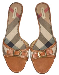 Burberry Tan Sandals