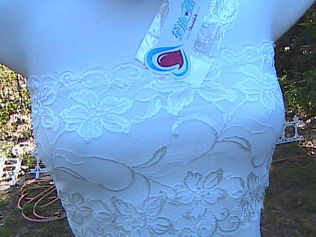 Other W/ Tag Strapless Tube Top Solid White