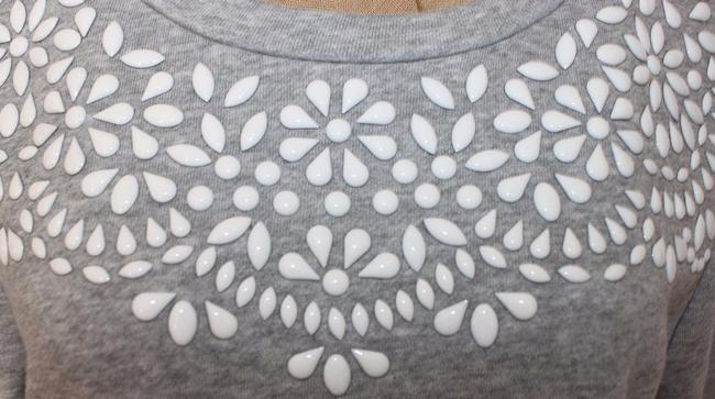 Anthropologie Beaded Embellished Willow Clay Sweatshirt Sweater
