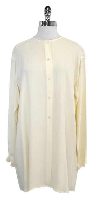 Armani Collezioni Cream Long Sleeve Tunic