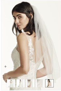 David's Bridal Ivory Medium Blusher Bridal Veil