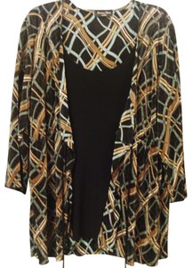 Brittany Black Plus-size Top Multi Color/Black
