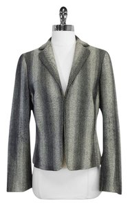 Akris Punto Grey Black Woold Tweed Jacket