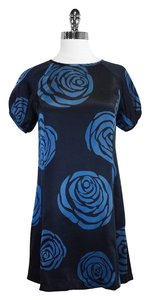 Marc Jacobs short dress Blue Floral Print Silk Short Sleeve on Tradesy