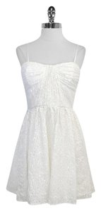 Jill Stuart short dress White Floral Sequin Sleeveless on Tradesy