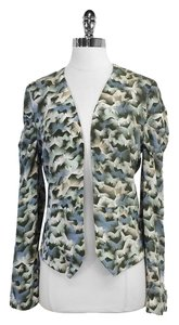 Winter Kate Multi Color Print Silk Jacket
