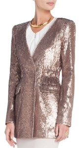 BCBGMAXAZRIA Bcbg Cocktail Attire Sequin Jacket Bcbg Runway Rose Gold Blazer