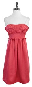 BCBGMAXAZRIA short dress Pink Silk Strapless on Tradesy