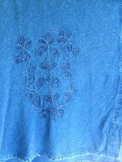 Other Fades As Washed Pretty Embroidery Top blue