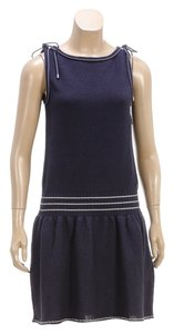 Chanel short dress Navy Blue Sleeveless on Tradesy