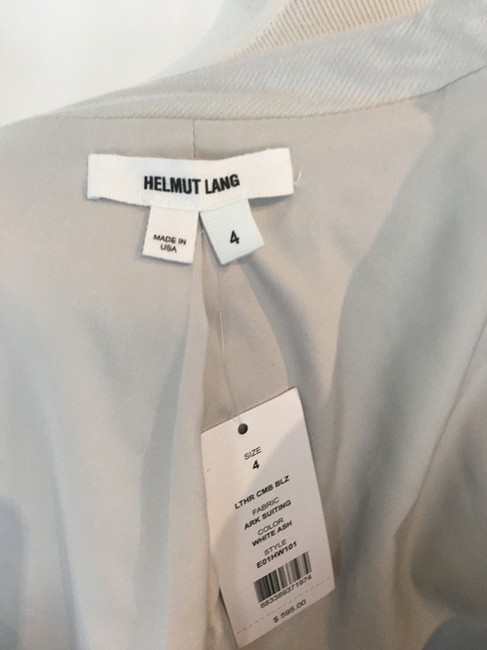 Helmut Lang Jacket Asymmetrical Light gray Blazer Image 10