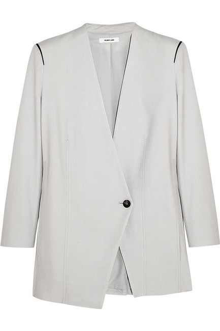 Helmut Lang Jacket Asymmetrical Light gray Blazer Image 2
