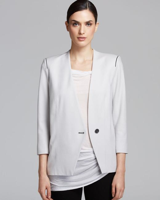 Helmut Lang Jacket Asymmetrical Light gray Blazer Image 5