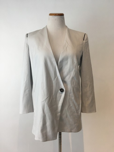 Helmut Lang Jacket Asymmetrical Light gray Blazer Image 7