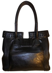 Treesje Satchel Shoulder Tote in black