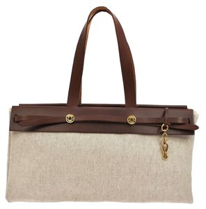 Hermès Tote in Beige, Brown