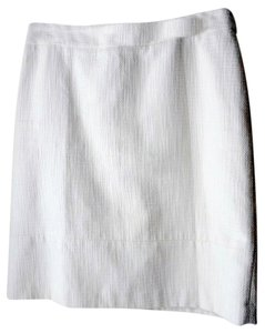 Brooks Brothers Skirt Ivory Tweed