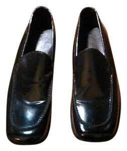 Coach Rita Patton Leather Loafers Black Flats