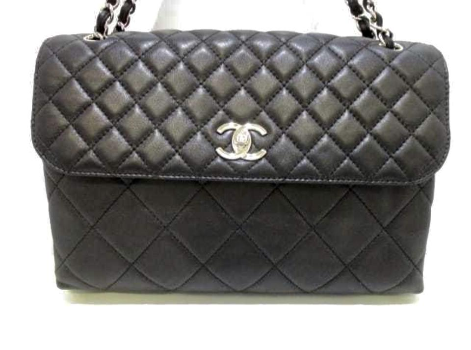 56971552232d Chanel Classic Flap Jumbo Quilted Black Lambskin Leather Shoulder Bag