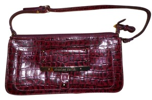 Charles David Leather Croc Shoulder Bag