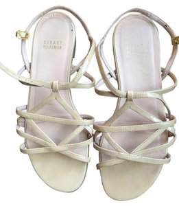 Stuart Weitzman Nude- Patent Leather Sandals