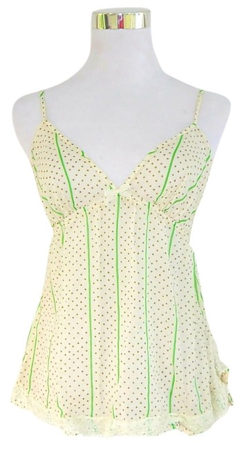 J.Crew Sheer Lace Lace Trim Camisole Top Cream