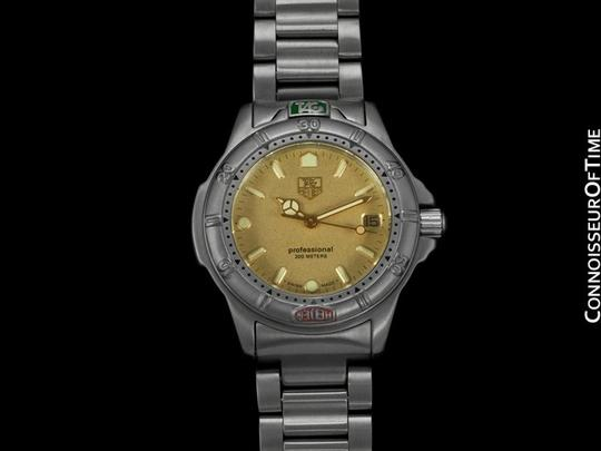 Tag heuer gold professional 4000 mens midsize diver watch tradesy for Tag heuer divers watch