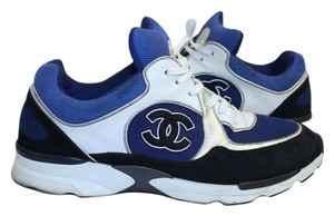 Chanel Blue Sneakers Cc Trainer Athletic
