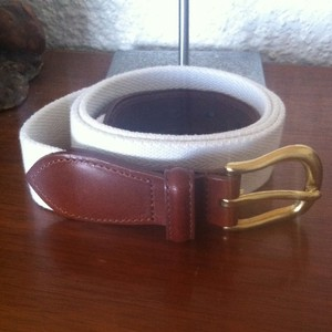Coach COACH Cotton & Leather Belt