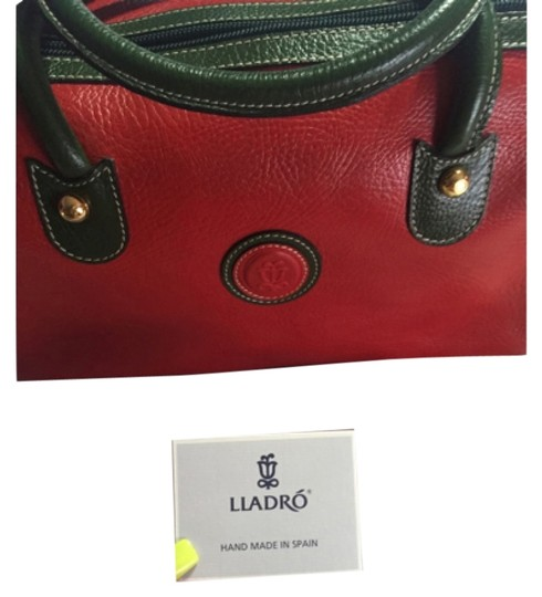 Preload https://item4.tradesy.com/images/lladro-red-and-green-leather-satchel-5759083-0-0.jpg?width=440&height=440
