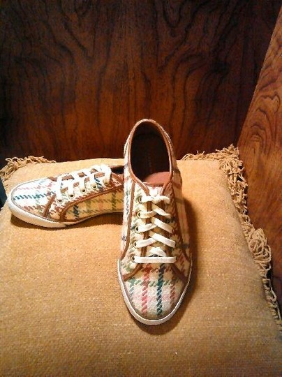 Coach Sneakers Wool Lace Up Sneakers Multi-Color Athletic