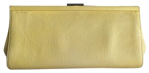 Banana Republic Leather Yellow Clutch