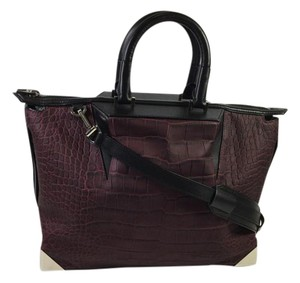 Alexander Wang Wang Skeletal Satchel in Beet / Black