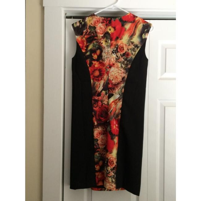 Tinley Road short dress Black with floral on Tradesy
