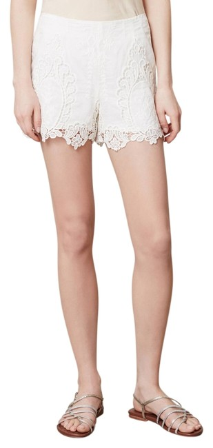 Dolce Vita Lace Anthropologie Calvi Mini/Short Shorts White