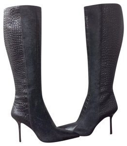 Francesco Sacco Stiletto Boot Fur Leather Black Boots