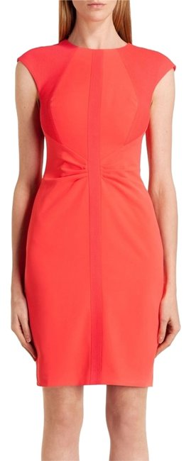 Ted Baker Cap Sleeved Round Neck Body Con Form Fitting Dress