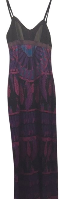 Feathers Pattern Maxi Dress by Custo Barcelona