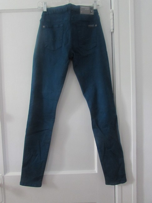 7 For All Mankind Skinny Straight Leg Jeans-Medium Wash