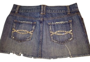 Abercrombie & Fitch Mini Skirt Jean with jeweled pockets