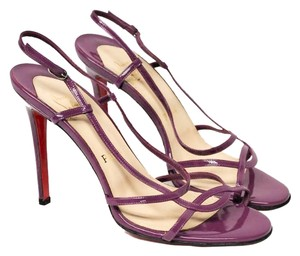ad243ed843c Christian Louboutin Red Sole Size 38. Strappy Heels Purple Sandals