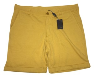Fendi Men Unisex Luxury Bermuda Shorts Yellow