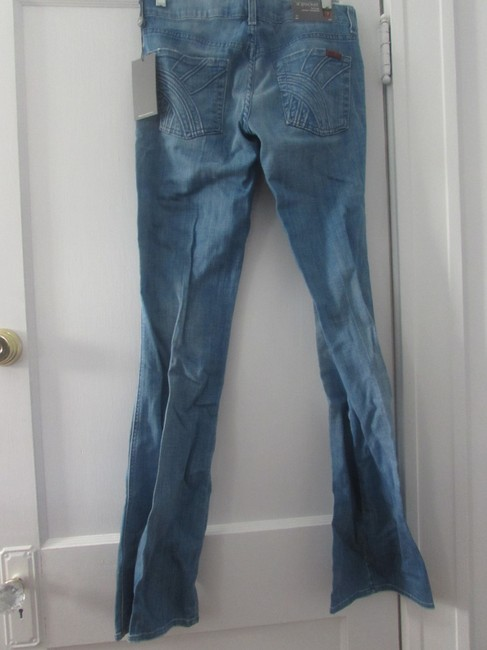 7 For All Mankind A Pocket Flare Leg Jeans-Light Wash