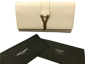 Saint Laurent White Clutch