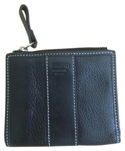 Coach Black Leather Coach Wallet