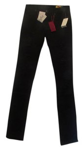 BlankNYC Distressed Straight Leg Jeans-Dark Rinse