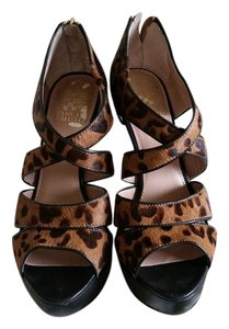 Vince Camuto Platform Party Black and Leopard Platforms