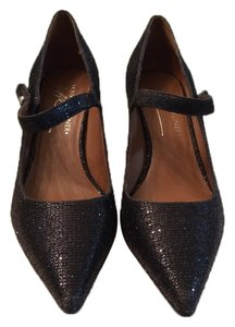 Donald J. Pliner Metallic Black Pumps