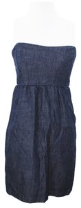 Gap short dress Denim Blue #gap #straplessdress #denimdress on Tradesy